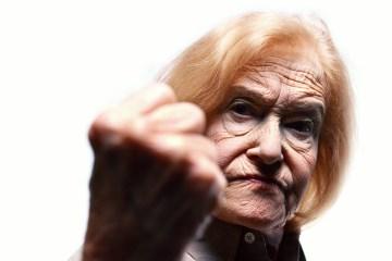angry senior citizen