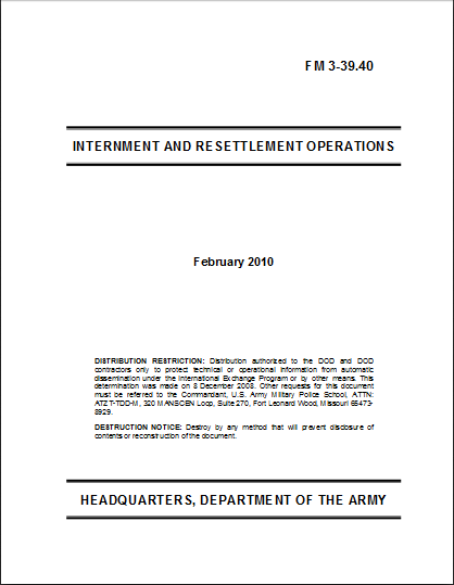 Internment document
