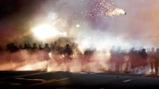 St. Louis tear gas riots