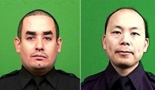 Slain officers in revenge shooting NYC