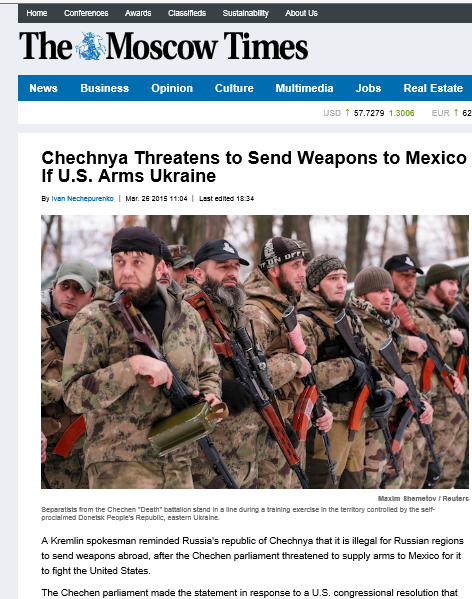 Moscow Times Russia to arm Mexico