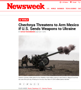 Newsweek story of Russia threat