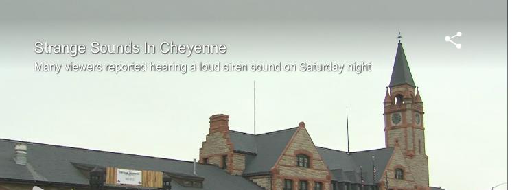 mystery sounds in cheyenne, WY