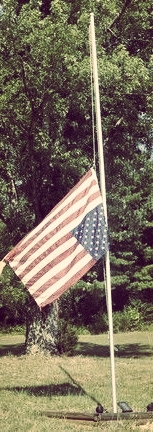 flag half mast upside down