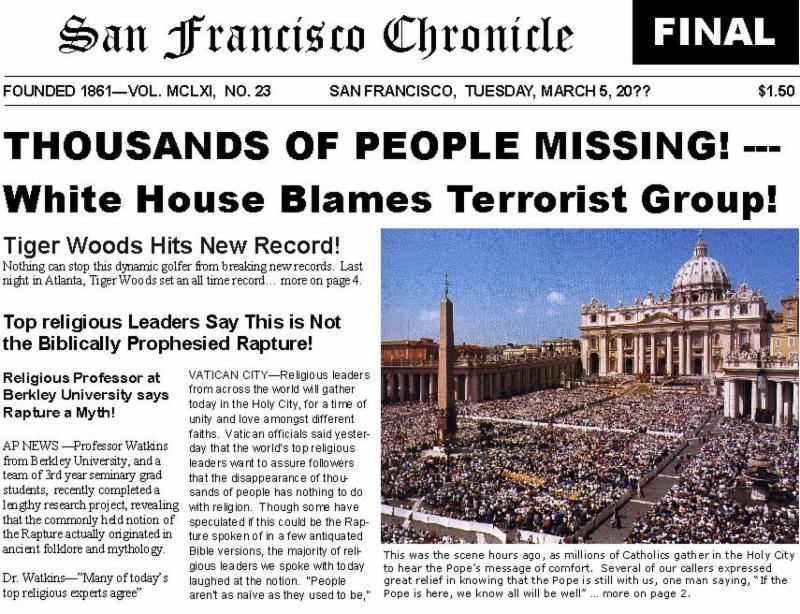 Newspaper after rapture