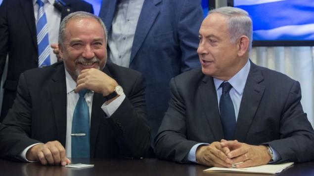 Avigdor Liberman and Netanyahu