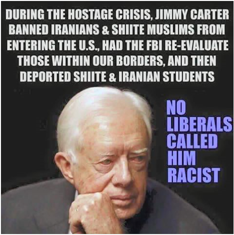 Carter banned Muslims