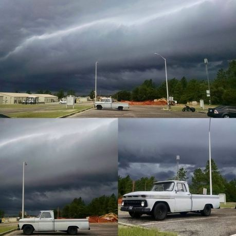 Wow the truck in Ga with storm clouds