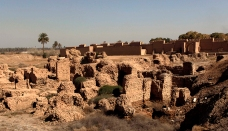 General view of the ancient city of Babylon near Hilla
