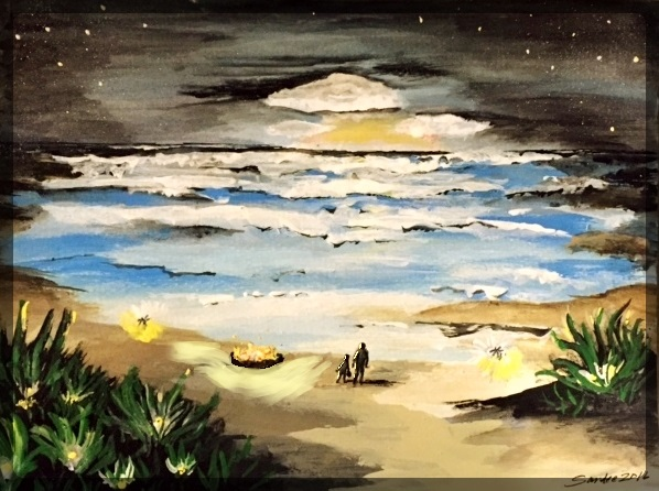 Sand and sea and fireflies2