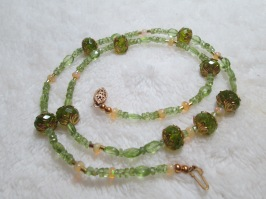 Genuine Welo opal and Peridot necklace