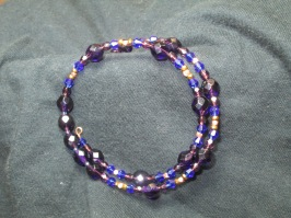 Intense Purple and Blue Coil Bracelet