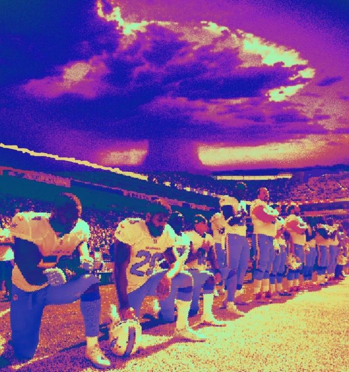 Mushroom cloud over football players3